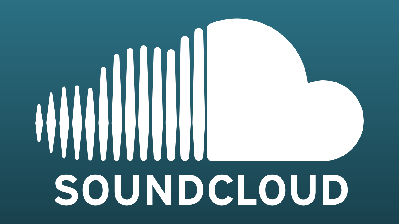 An image of a button on Lyna Galliara's website. The button has a SoundCloud logo on it. Clicking on this button will take the visitor to Lyna Galliara's SoundCloud profile.